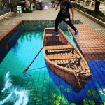 Anamorphic Row Boat by Tracy Lee Stum