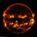 Jack-o-Lantern Sun Photograph